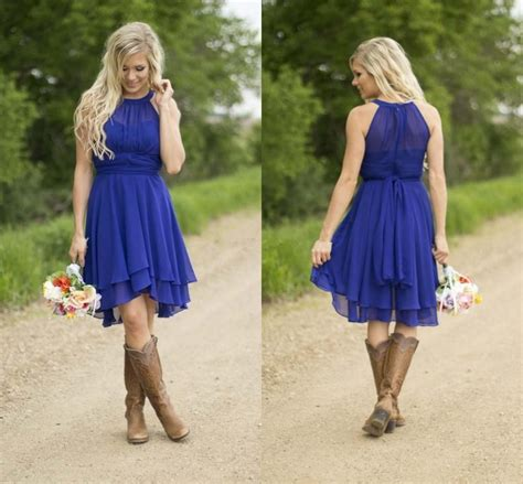 of the dresses country western style modest country western style royal blue bridesmaid