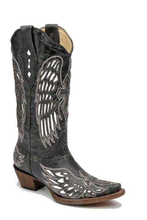 cheap corral boots corral boots black bone and white wing and cross s