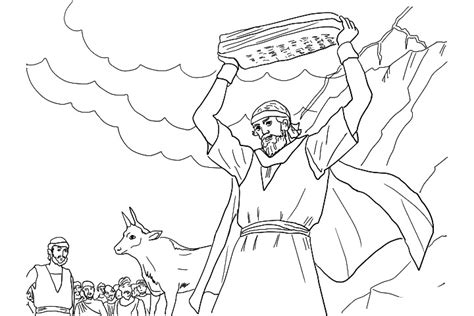 moses promised land free coloring pages