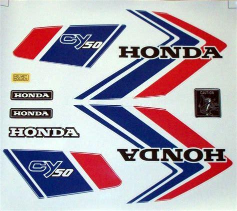 Honda Cy 50 Tank Aufkleber aufkleber set emblem label mark honda cy 50 dekor ts
