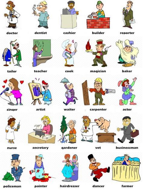 imagenes de profesiones en ingles y español las profesiones en ingl 233 s colores en ingles