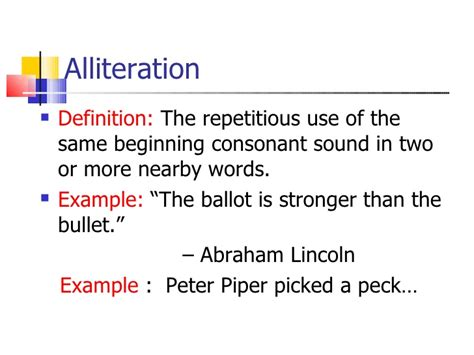 Definition Of A by Definition Alliteration