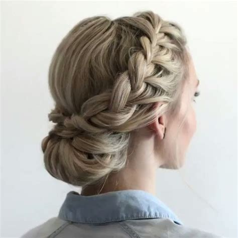 hoco hairstyles updo best 25 braided updo ideas on pinterest