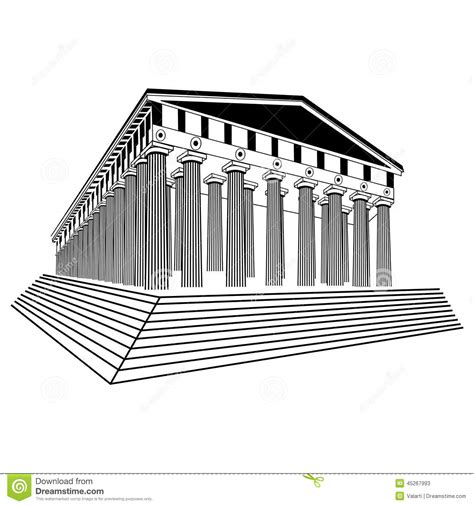 sketchbook vector greece parthenon sketch vector stock vector image 45267993
