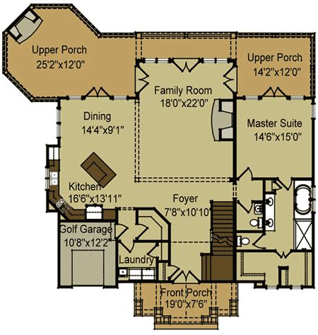 vaulted ceiling floor plans vaulted ceilings 92328mx architectural designs house