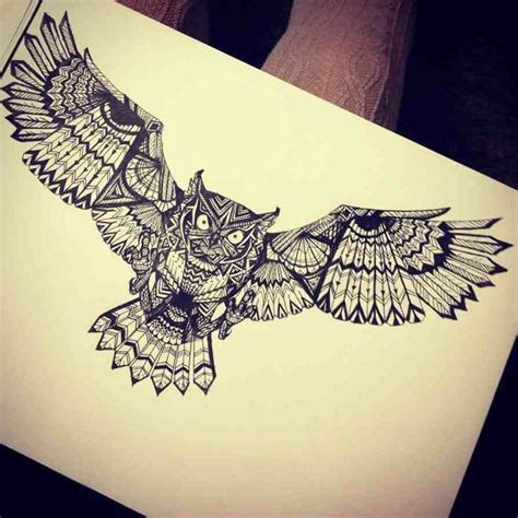 tattoo mandala wings best 25 geometric owl tattoo ideas on pinterest