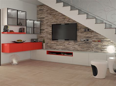 scale soggiorno progettazione 3d soggiorno salotto render scala