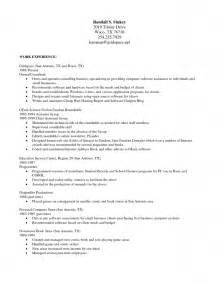 Functional Resume Template Open Office by Work Resume Template Word