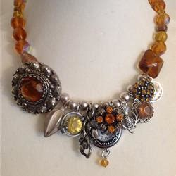 Pansy Brooch Charm Necklace From Eclectic Shock by Scottish Collection Louise Pringle Eclectic Shock
