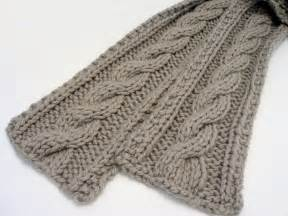 Cable knit scarf patterns knitting