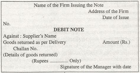 Credit Voucher Letter Chartered Blood Debit And Credit Notes Explained