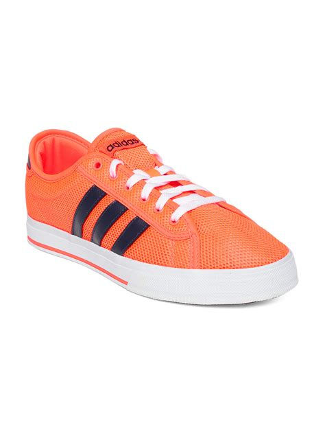 myntra adidas neo neon orange daily bind casual shoes 702611 buy myntra adidas neo casual