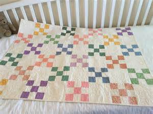 crib quilt in 1930s reproduction fabric baby quilt nine