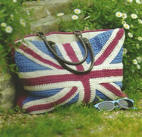 crochet pattern union jack crochet union jack bag pattern red white and blue bag