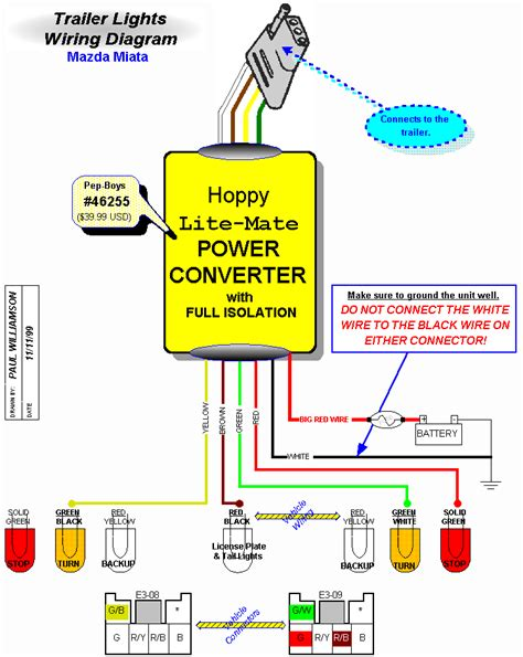 4 way wiring diagram for trailer lights efcaviation