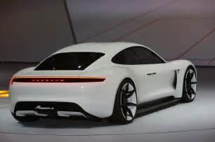 Porsche Ev Porsche Mission E Concept Ev Arrives In Frankfurt With 600 Hp