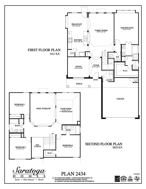 saratoga homes floor plans plan 2434 saratoga homes houston