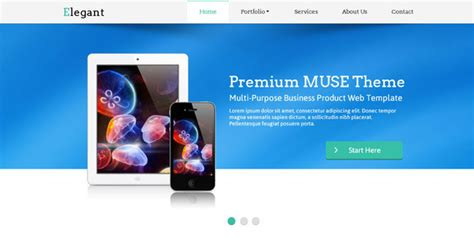 23 Beautiful Free Premium Adobe Muse Templates Design Freebies Adobe Muse Ecommerce Templates