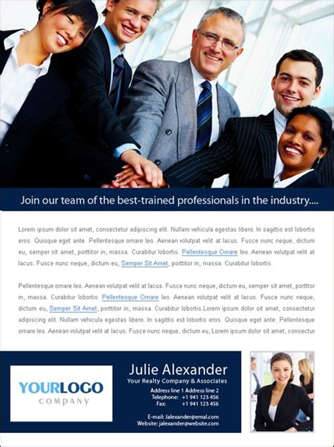 Ecaignpro Recruiting Template Recruiting Templates Pinterest Flyer Template Real Estate Recruiting Email Templates