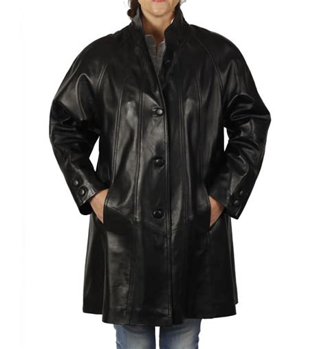 swing leather coat 3 4 length black leather swing coat from simons leather