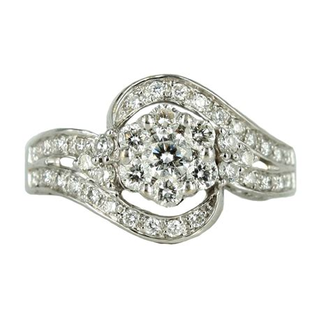 18ct white gold ring jems of remuera