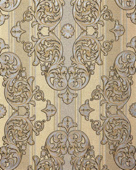 metallic wallpaper for walls baroque wallpaper wall covering edem 580 31 blown vinyl