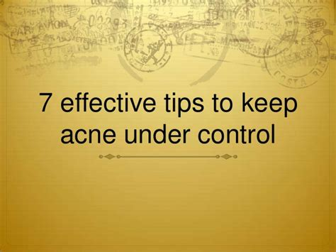 Or 7 Tips On Keeping It by 7 Effective Tips To Keep Acne