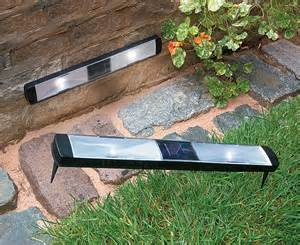 solar powered path lights solar powered pathway strips for the home