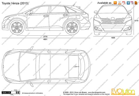 toyota venza dimensions the blueprints vector drawing toyota venza