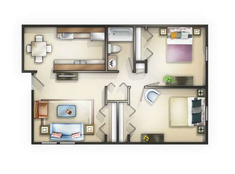 2 Bedroom Apartments Knoxville Tn by Knoxville Tn Apartment Big Oak Floorplans
