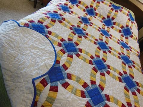 Summer Garden Hand Quilted Double Wedding Ring Quilt by Bluebird Gardens   Traditional   Quilts