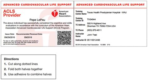 Bls Cpr Card Template by American Association Bls Certification Image