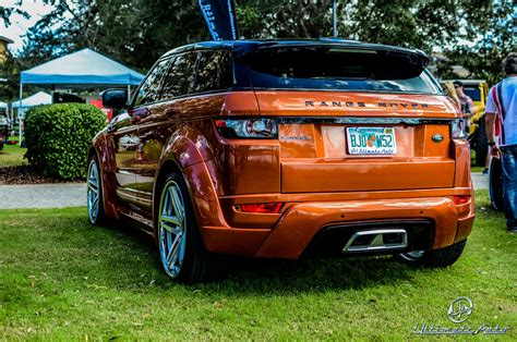 neon orange range rover range rover evoque vesuvius orange by ultimate auto
