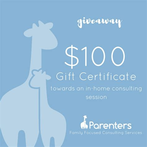 Gift Certificate Giveaway - parents win a gift certificate from parenters