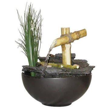 Air Mancur Batu Untuk Hiasan Meja Model Ulir Bola Putar air mancur taman air mancur bambu sederhana yang menenangkan