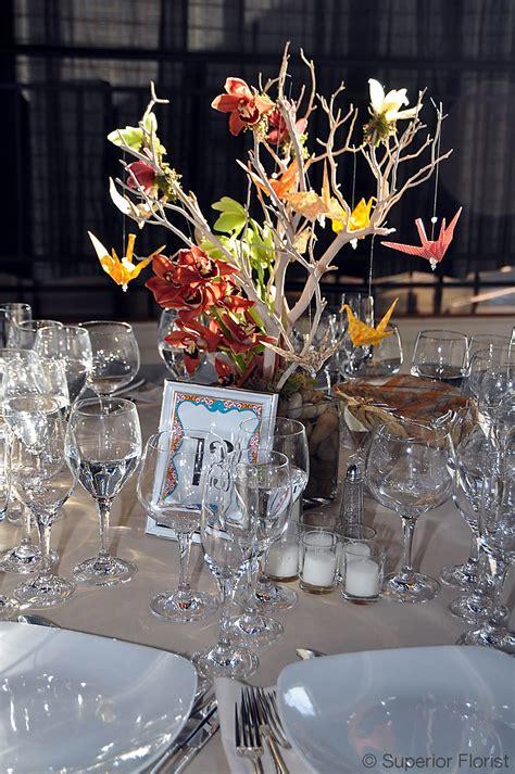 Origami Crane Centerpiece - superior florist event florals centerpieces
