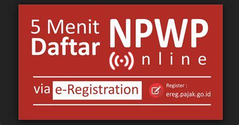 bagaimana  membuat  daftar npwp secara