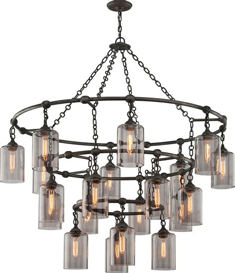 Chandelier Wrought Iron Troy F4426 Gotham Worked Wrought Iron Chandelier Light Tro F4426
