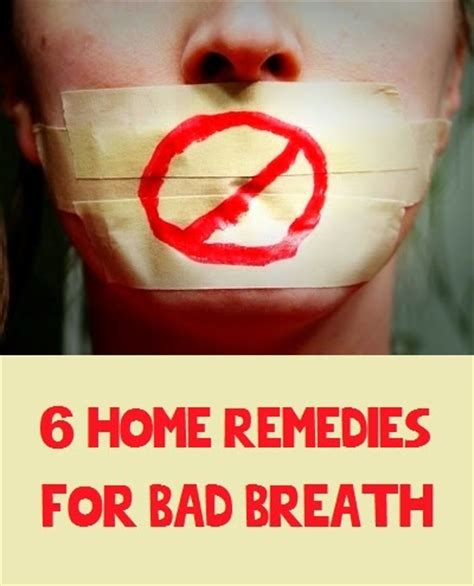6 home remedies for bad breath