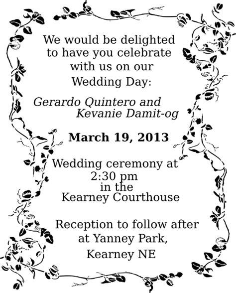 Wedding Invitation Template Clip Art At Clker Com Vector Clip Art Online Royalty Free M M Invitation Template