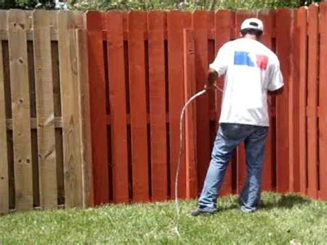 how to paint a wood fence