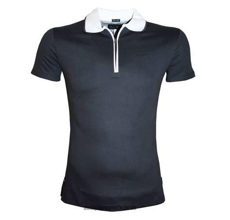 Polo Zipper armani navy slim half zipper polo shirt polo shirts from designerwear2u uk