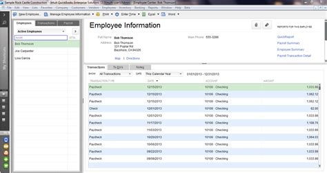 Find Info On Quickbooks Desktop Enterprise Payroll Employees Quickbooks Desktop Enterprise