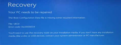 your pc needs to be repaired how to fix the error