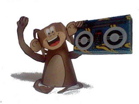 Papercraft Monkey - funky monkey paper paperkraft net free papercraft