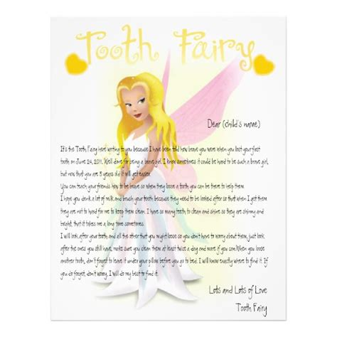 personalize tooth fairy magic letterhead template zazzle