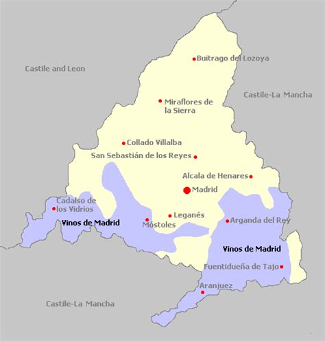 Madrid Spain Search Madrid Region Map