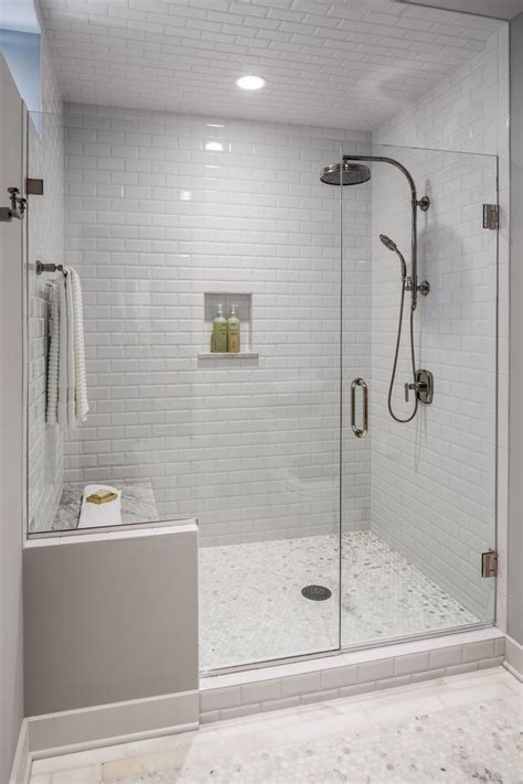 glass subway tile bathroom ideas best 25 master bath shower ideas on pinterest master