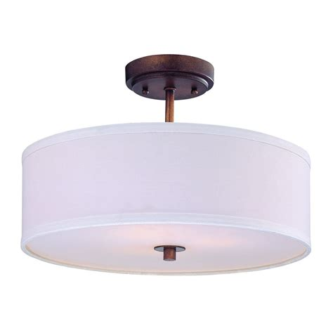 Drum Ceiling Light Drum Ceiling Light With Bronze Finish And White Shade 16 Inches Wide Dcl 6543 604 Sh7492 Kit