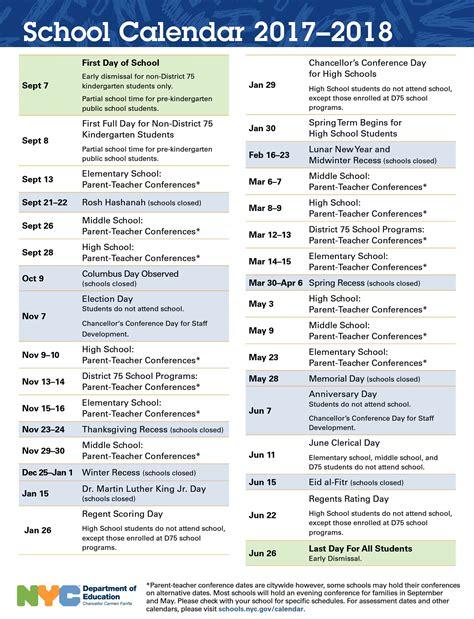 Doe Nyc Calendar 2017 2018 Nyc Schools Calendar Uft Solidarity